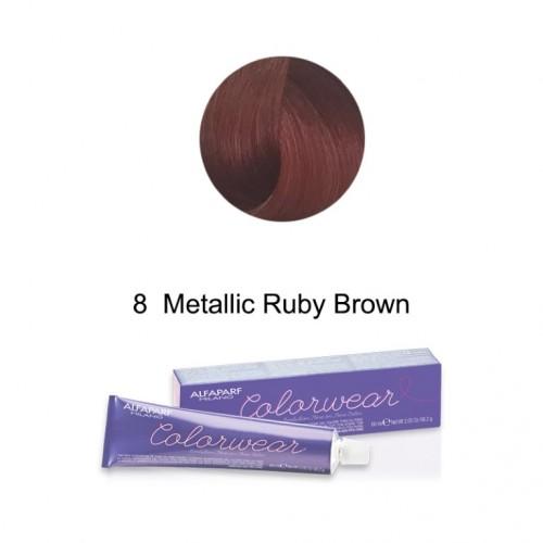 Color Wear vopsea fara amoniac nr. 8  Metallic Ruby Brown